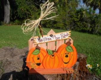 HALLOWEEN, Fall, Pumpkin Patch, Welcome Sign, Jacks
