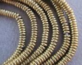 African Brass Heishi Beads-3 Strands