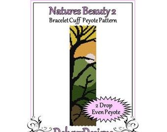 Bead Pattern Peyote(Bracelet Cuff)-Natures Beauty 2