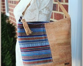 Peruvian Cork Bonnie Bag - Cork Leather - Ethnic bag - Bucket Bag - Cork leather bag -