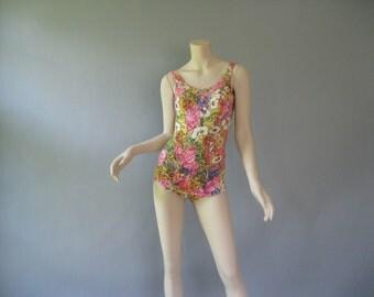 Vintage 1960s Swimsuit - Rose Marie Reid Pin Up  - One Piece Swimwear S