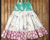 Baby toddler girls horse and guitar summer dress
