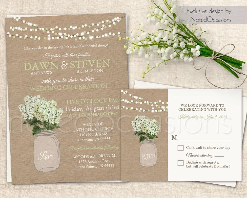 jar wedding invitations etsy - 28 images - items similar to vintage ...