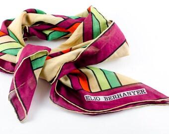 Mod Rainbow Vintage Silk Scarf Elio Berhanyer