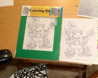 Little Me Coloring Kit, Linda Biggs Art NEW