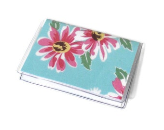 Card Case Mini Wallet Green Floral