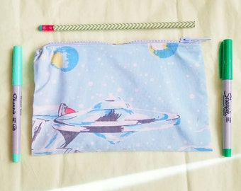 star trek upcycled make up or pencil bag zipper topped by felices happy designs