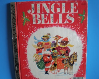 Vintage Mid Century Christmas Children's Book - A Golden Book - Jingle Bells