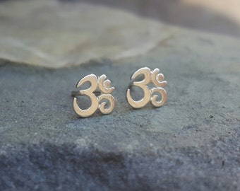 Om Stud Earrings Om Earrings Om Studs Girlfriend Gift Best Friend Sterling Silver Studs Womens Gift for Women Teen Girl Gift Yoga Jewelry