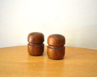 Danish Modern Teak Salt and Pepper Shakers