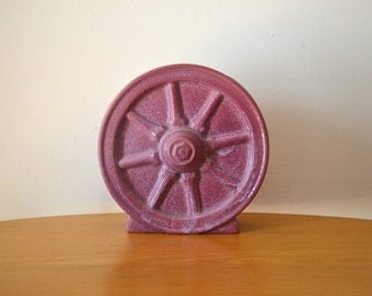Mid Century Frankoma Red Bud Wagon Wheel Vase