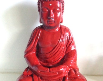 Vintage Large Red Buddha