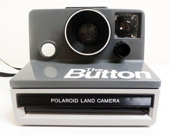 Vintage Polaroid The Button SX-70 Instant Film Camera