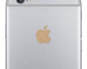 iPhone 6 Sparkling Gold Logo Decal