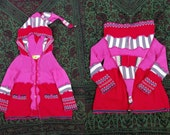 Completely cute wool-free elfcoat size 18-24 months upcycled by Niknok