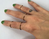 Simple Brass Stacking Ring