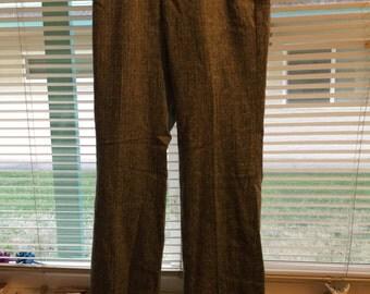 Sale! Victorias secret pants wool/poly Marisa fit htf/rare,sz 2, b/wh,lined, Front zip/button, no flaws