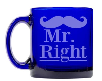 Colbalt Blue Coffee Mug 13oz -9265 Mr. Right