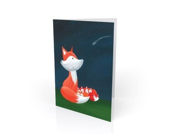 Mama Fox Mother's Day Blank Card