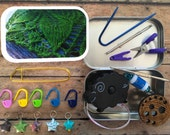 Green Lace: Knitter's Tool Tin From Sarah Wilson/TheSexyKnitter