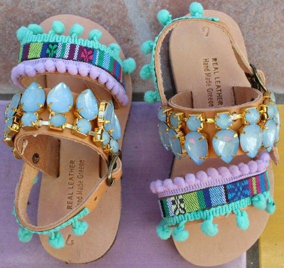 SALE Childrens greek sandals! Leather sandals, for kids and babies.sandals sandales enfant sandales fille