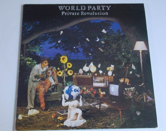 1986 - World Party - Private Revolution - complete w/ inner sleeve - LP Vinyl Record Album / Indie / New Wave