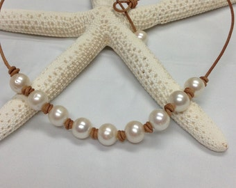 White Freshwater Pearl Necklace wonderful to layer!