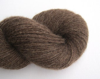 Reclaimed Cashmere Yarn, Light Fingering Weight, Acorn Brown, Lot 060616
