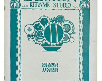 DESIGN KERAMIC STUDIO, Oversized Magazine for the Potter & Decorator, March 1930