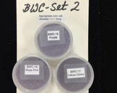 BWC Set 2 WATER COLOR Enamels Set #2 contains 3 special colors- Purple, Rose Pink, and Yellow Ocre
