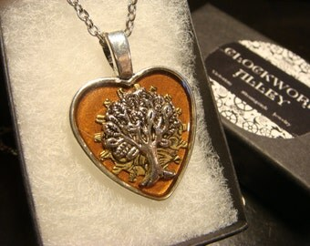 Tree of Life Heart Pendant Necklace- (1974)