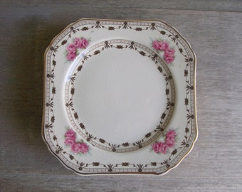 "Bread and Butter Plates Coronation Rose by Thomas Hughes Pattern 4857 | Set of Eight 6"" Plates 