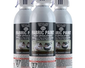 Simply Spray Upholstery Fabric Spray Paint - Dries Soft, Permanent - CHARCOAL GREY - 3 PACK