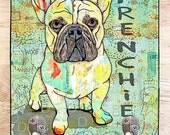 French Bulldog Frenchie  Leash hook Dog lover gift home decor dog leash holder