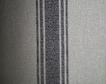 Pillow, Cushion charcoal stripe 20x20French Laundry