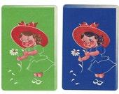 DAISY PLUCKER (2) Vintage Single Swap Playing Cards Paper Ephemera Scrapbooking