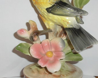 Vintage;Ceramic Yellow Canary  Bird Figurine Made in Japan