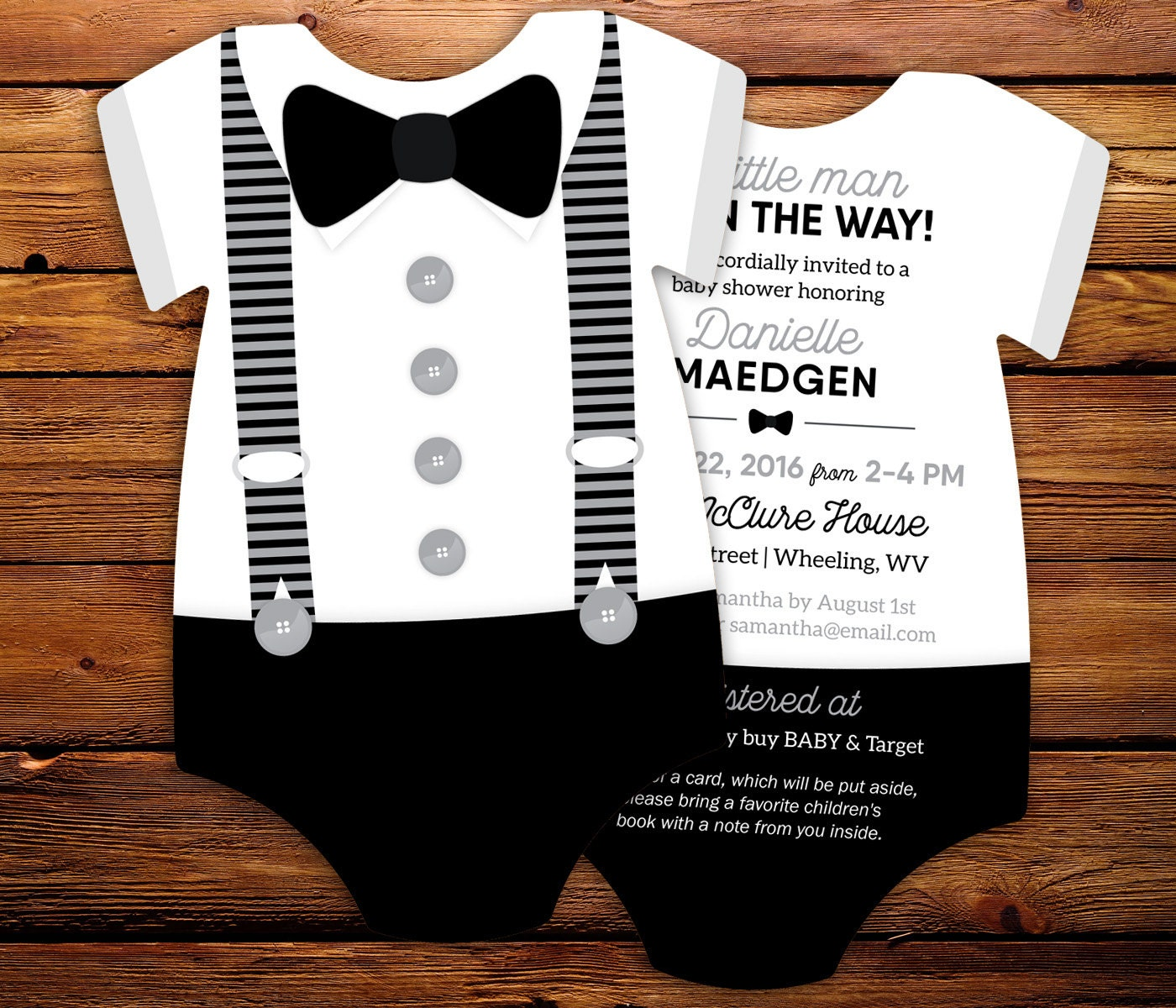 Bow Tie Invitations Baby Shower for luxury invitations template