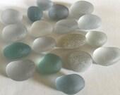 18 Genuine Sea Glass Grays Aquas L11