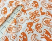 Handmade Massage Table Face Cradle Cover - Sunny Foxes - Cotton Flannel
