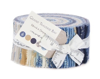 Moda Grand Traverse Bay jelly Roll by Minick and Simpson 2.5 inch Fabric Strips