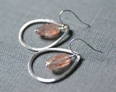 surrounded sunstone earrings