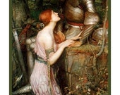 Great SALE Pre-Raphaelite Artist John William Waterhouse's Lamia and Her Knight Counted Cross Stitch Chart