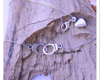 Handcuff Necklace ,Forever Yours Handcuff Necklace  Handmade By: Tranquilityy