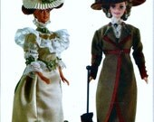 """Vogue 691/7109 11 1/2"""" Barbie Fashion Doll Clothes Circa 1900 & 1910 Victorian Sewing Pattern"""
