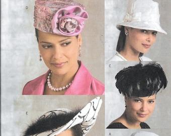 Butterick B4755 Ladies Hats Sewing Pattern Millinery Feather Dressy Pill Box 5 Styles UNCUT 4755