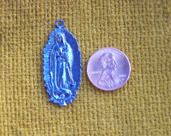 Lot of 12 Medium Virgin of Guadalupe Milagros/Pendants