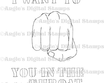 I Want To Punch You Quote Digital Stamp Image