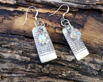 Crystal fork earrings