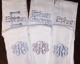Monogram Burp Cloth Set of 6